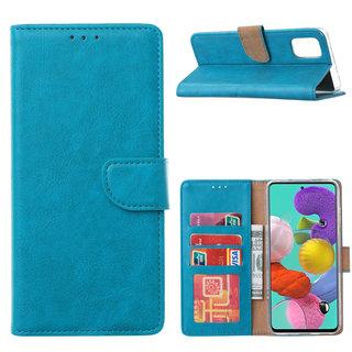 Bookcase Samsung Galaxy A51 hoesje - Blauw