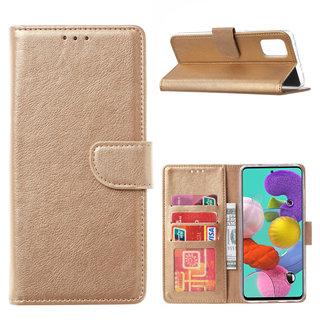 Bookcase Samsung Galaxy A51 hoesje - Goud