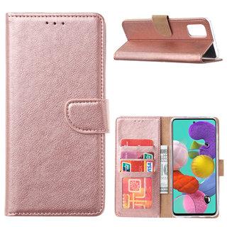 Bookcase Samsung Galaxy A51 hoesje - Rosé Goud