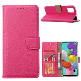 Bookcase Samsung Galaxy A51 hoesje - Roze