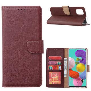 Bookcase Samsung Galaxy A51 hoesje - Bordeauxrood