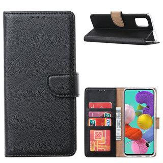 Bookcase Samsung Galaxy A51 hoesje - Zwart