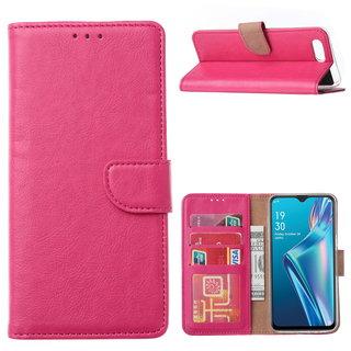 Bookcase Oppo A12s hoesje - Roze