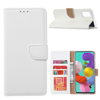 Bookcase Samsung Galaxy A51 hoesje - Wit