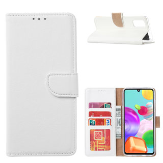 Bookcase Samsung Galaxy A41 hoesje - Wit