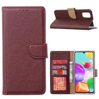 Bookcase Samsung Galaxy A41 hoesje - Bordeauxrood