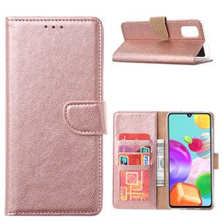 Bookcase Samsung Galaxy A41 hoesje - Rosé Goud