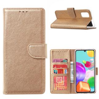 Bookcase Samsung Galaxy A41 hoesje - Goud