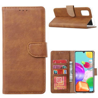 Bookcase Samsung Galaxy A41 hoesje - Bruin