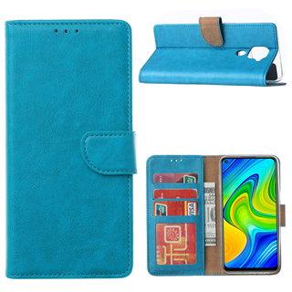 Bookcase Xiaomi Redmi Note 9 Hoesje - Blauw