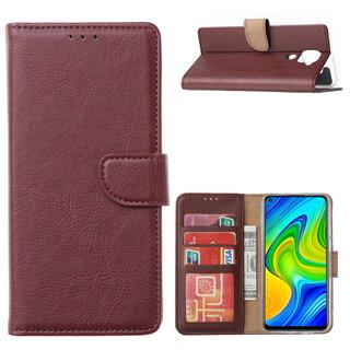 Bookcase Xiaomi Redmi Note 9 Hoesje - Bordeauxrood