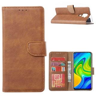 Bookcase Xiaomi Redmi Note 9 Hoesje - Bruin