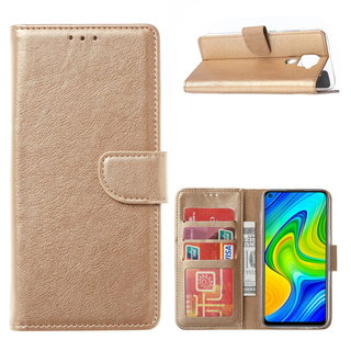 Bookcase Xiaomi Redmi Note 9 Hoesje - Goud