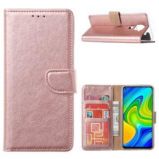 Bookcase Xiaomi Redmi Note 9 Hoesje - Rosé Goud