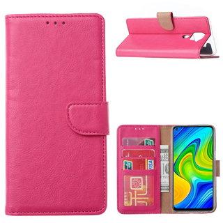 Bookcase Xiaomi Redmi Note 9 Hoesje - Roze