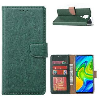 Bookcase Xiaomi Redmi Note 9 Hoesje - Smaragdgroen