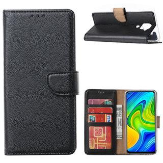 Bookcase Xiaomi Redmi Note 9 Hoesje - Zwart