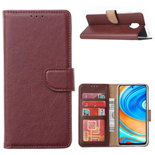 Bookcase Xiaomi Redmi Note 9 Pro Hoesje - Bordeauxrood