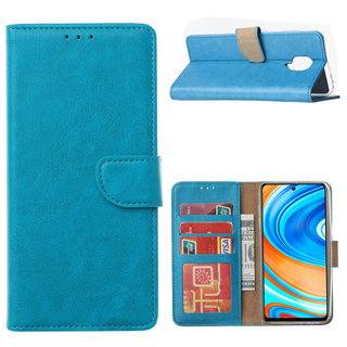 Bookcase Xiaomi Redmi Note 9 Pro Hoesje - Blauw