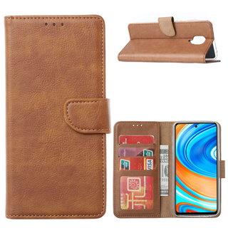 Bookcase Xiaomi Redmi Note 9 Pro Hoesje - Bruin