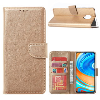 Bookcase Xiaomi Redmi Note 9 Pro Hoesje - Goud