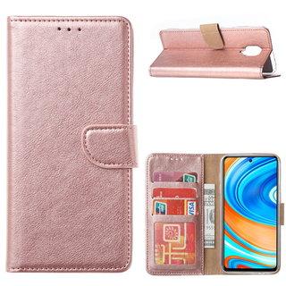 Bookcase Xiaomi Redmi Note 9 Pro Hoesje - Rosé Goud