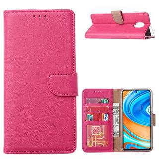 Bookcase Xiaomi Redmi Note 9 Pro Hoesje - Roze