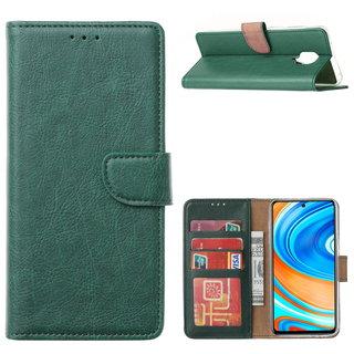 Bookcase Xiaomi Redmi Note 9 Pro Hoesje - Smaragdgroen