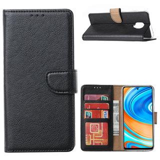 Bookcase Xiaomi Redmi Note 9 Pro Hoesje - Zwart