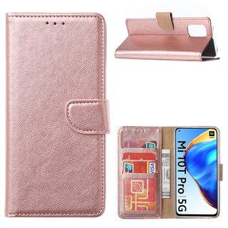 Bookcase Xiaomi Mi 10T Pro 5G Hoesje - Rosé Goud
