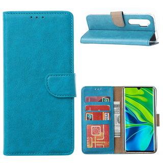Bookcase Xiaomi Mi Note 10 Lite Hoesje - Blauw