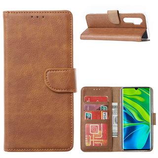 Bookcase Xiaomi Mi Note 10 Lite Hoesje - Bruin