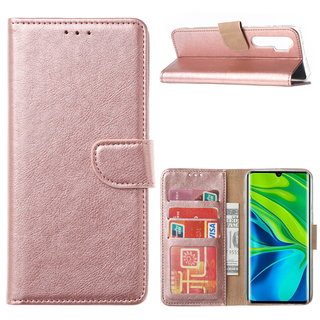 Bookcase Xiaomi Mi Note 10 Lite Hoesje - Rosé Goud