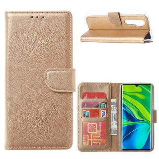 Bookcase Xiaomi Mi Note 10 Lite Hoesje - Goud