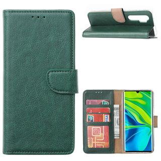 Bookcase Xiaomi Mi Note 10 Lite Hoesje - Smaragdgroen
