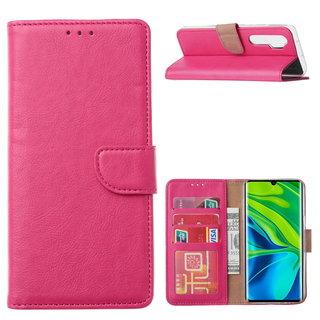 Bookcase Xiaomi Mi Note 10 Lite Hoesje - Roze