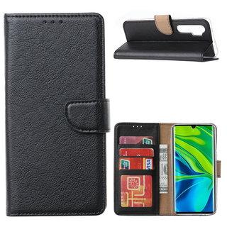 Bookcase Xiaomi Mi Note 10 Lite Hoesje - Zwart