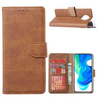 Bookcase Xiaomi Poco F2 Pro Hoesje - Bruin
