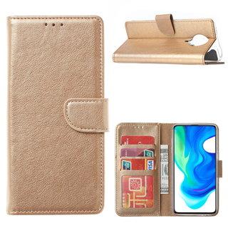 Bookcase Xiaomi Poco F2 Pro Hoesje - Goud