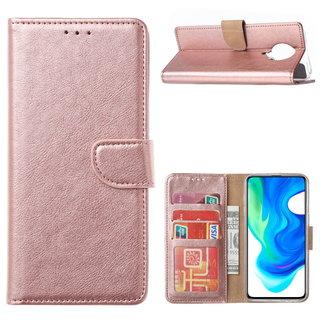 Bookcase Xiaomi Poco F2 Pro Hoesje - Rosé Goud