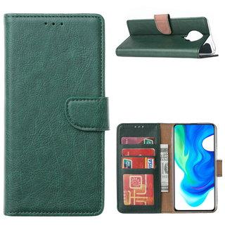 Bookcase Xiaomi Poco F2 Pro Hoesje - Smaragdgroen