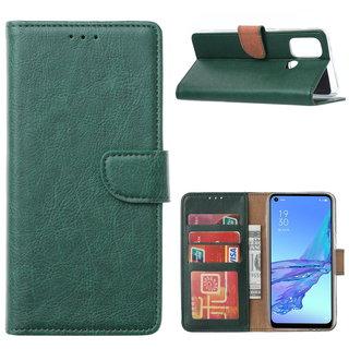 Bookcase Oppo A53 / A53S hoesje - Smaragdgroen