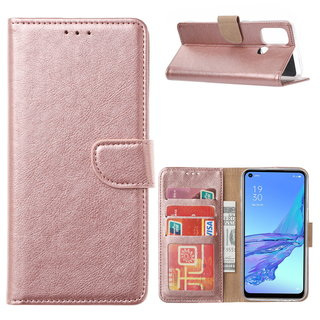 Bookcase Oppo A53 / A53S hoesje - Rosé Goud