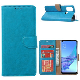 Bookcase Oppo A53 / A53S hoesje - Blauw