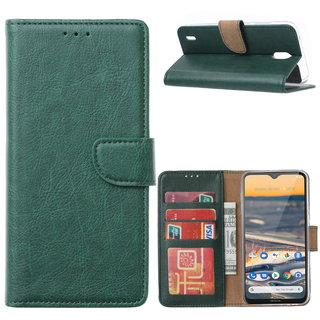 Bookcase Nokia 1.3 hoesje - Smaragdgroen