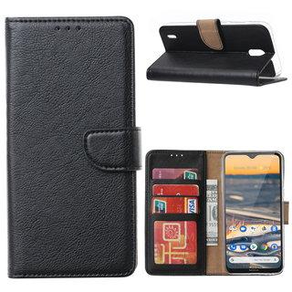 Bookcase Nokia 1.3 hoesje - Zwart