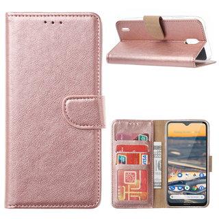 Bookcase Nokia 1.3 hoesje - Rosé Goud