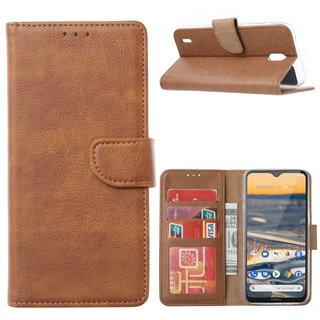 Bookcase Nokia 1.3 hoesje - Bruin