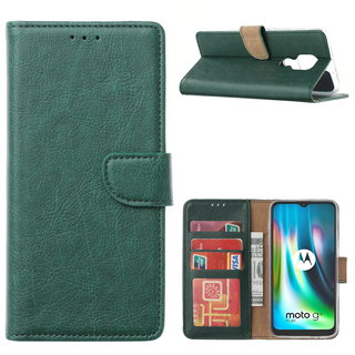 Bookcase Motorola Moto G9 Play hoesje - Smaragdgroen