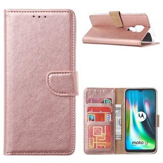 Bookcase Motorola Moto G9 Play hoesje - Rosé Goud